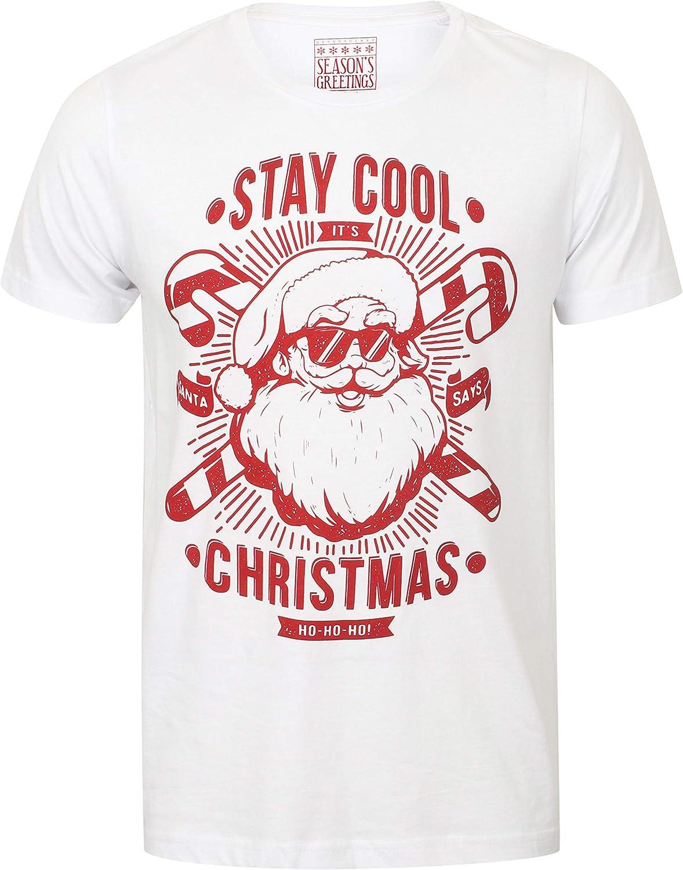IDcommerce Christmas Squad Christmas Hat Design Mens T-Shirt Extra Large White