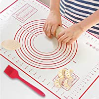 Classyy Goods Silicone Baking Mat with Measuring Scale, Heat Resistant Kneading Mat, Non-Stick Dough Rolling Mat, Easy…