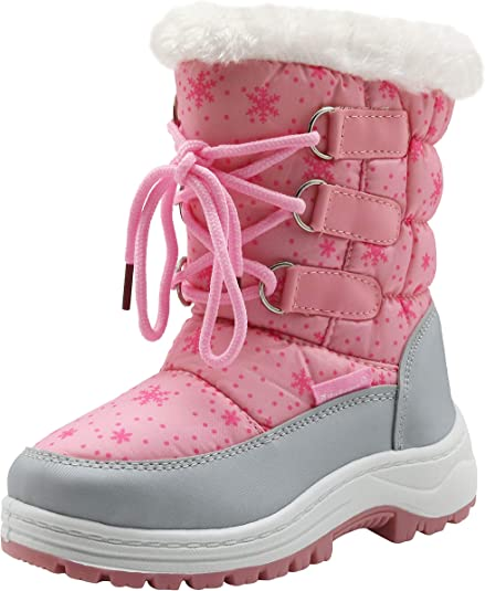 Apakowa Kids Girls Snow Boots for Winter