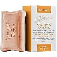 Makari Naturalle Carotonic Extreme Skin Lightening Soap 7oz. - Exfoliating & Toning Body Soap with Carrot Oil & SPF 15 - Cleansing & Whitening for Dark Spots, Acne Scars, Blemishes & Wrinkles