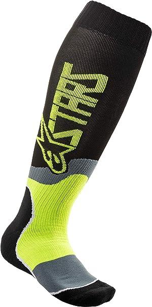 Alpinestars MX Plus-2 Socks-Black//Cyan-S