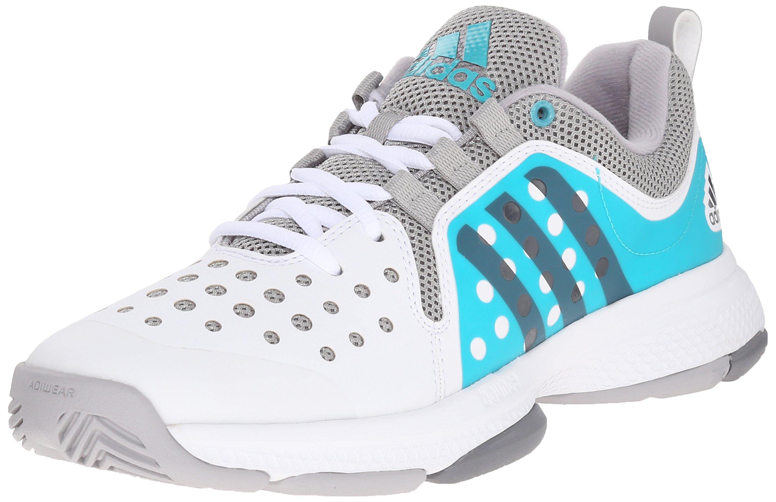 adidas Performance Women's Barricade Classic Bounce W Training Footwear,White/Night Grey Metallic/Shock Green,7 M US