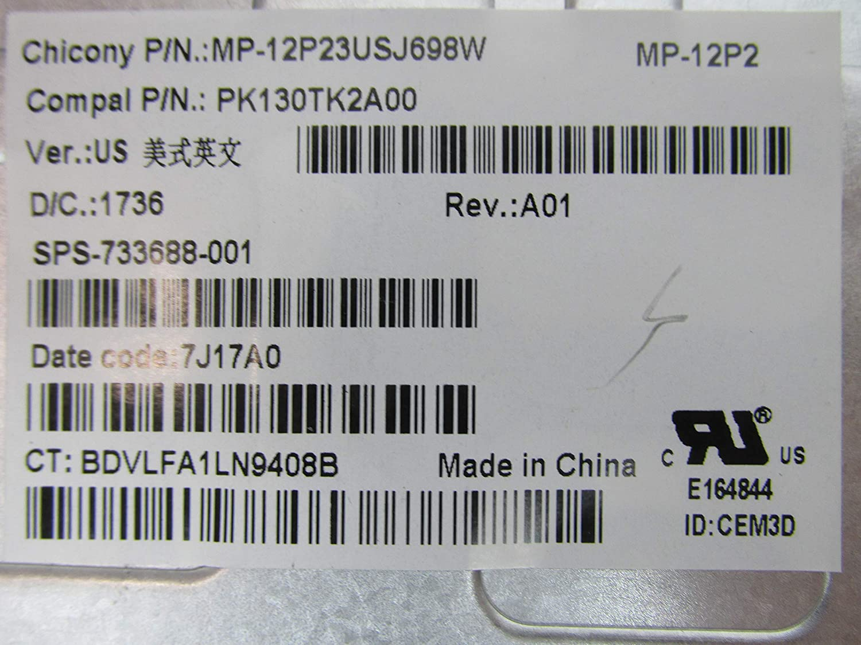 New Genuine HP ZBook 15 17 Backlit Keyboard PK130TK1A00 733688-001