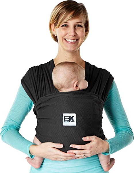 S Birth and Up Baby K'tan Baby Carrier Black Stretch Cotton No Wrapping Size