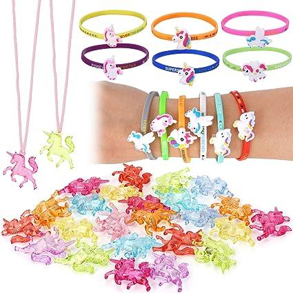 10 X Figura De Unicornio Pony Princesa Juego Niñas Bolsa Fiesta Favor Juguete Nuevo