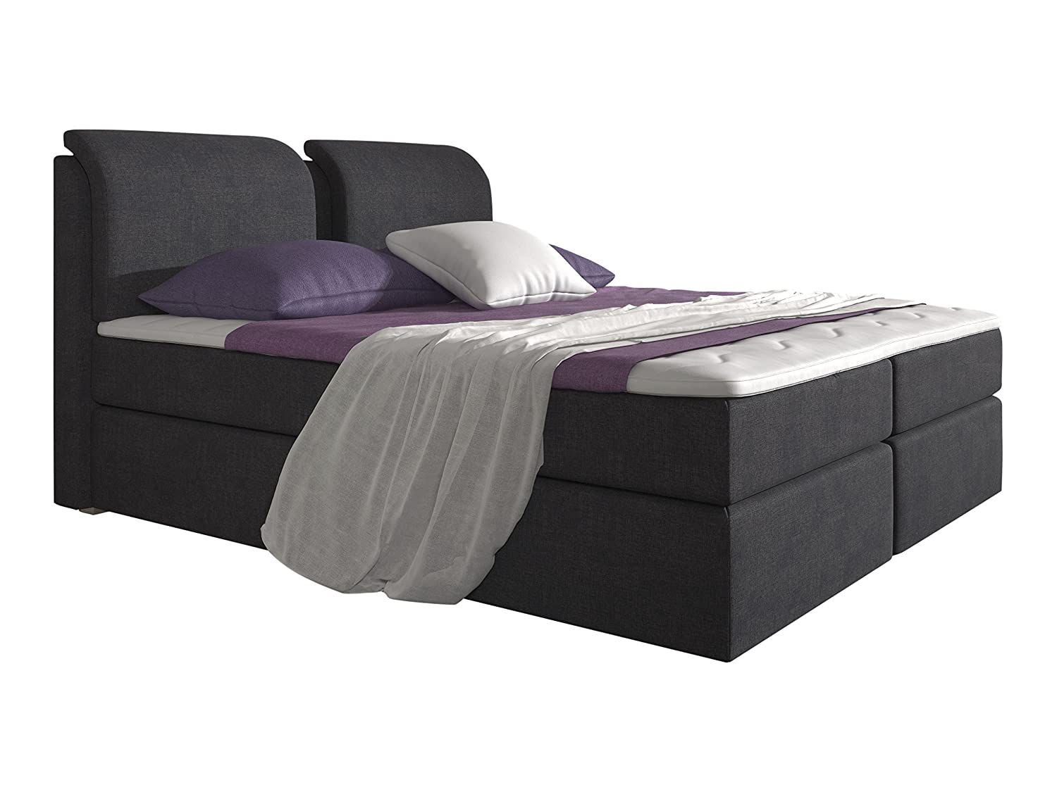trendteam boxspringbett polsterbett borneo boxspringbett 180x200 beste wahl boxspringbetten. Black Bedroom Furniture Sets. Home Design Ideas