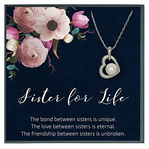 Amazon.com: Grace of Pearl Sister Gifts from Sister Quotes ...