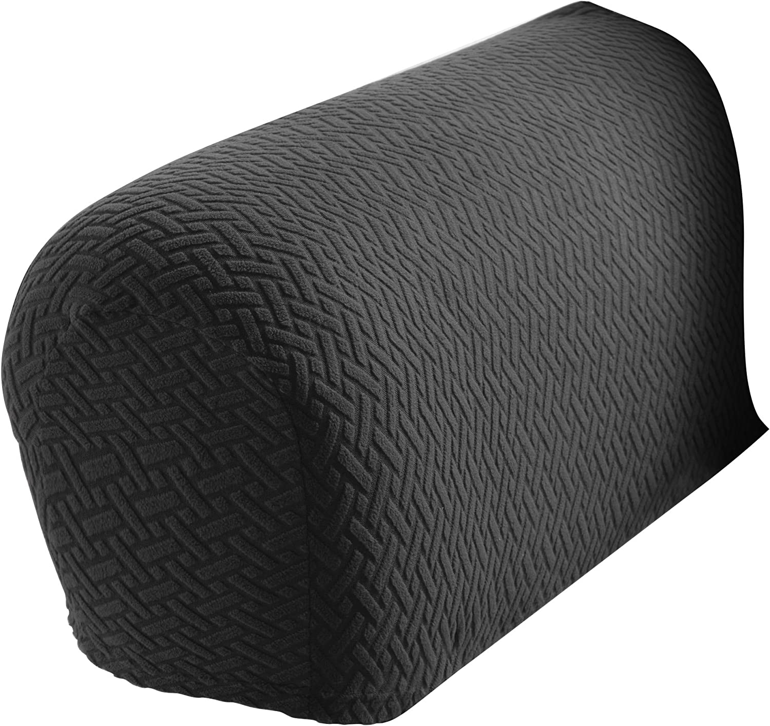 Madison Charcoal Mason Stretch Armrest Covers, 2 Count