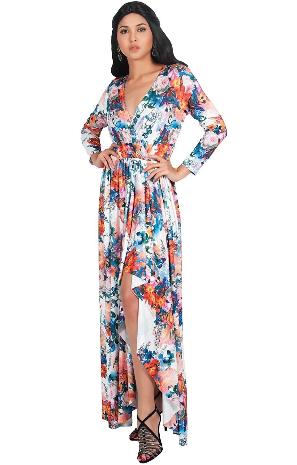 99a6e0743a PLUS SIZE - These sexy and slimming plus size v-neck maxi dresses and gowns  are the perfect clothing choice for women. STYLE - Floral printed  sleeveless ...