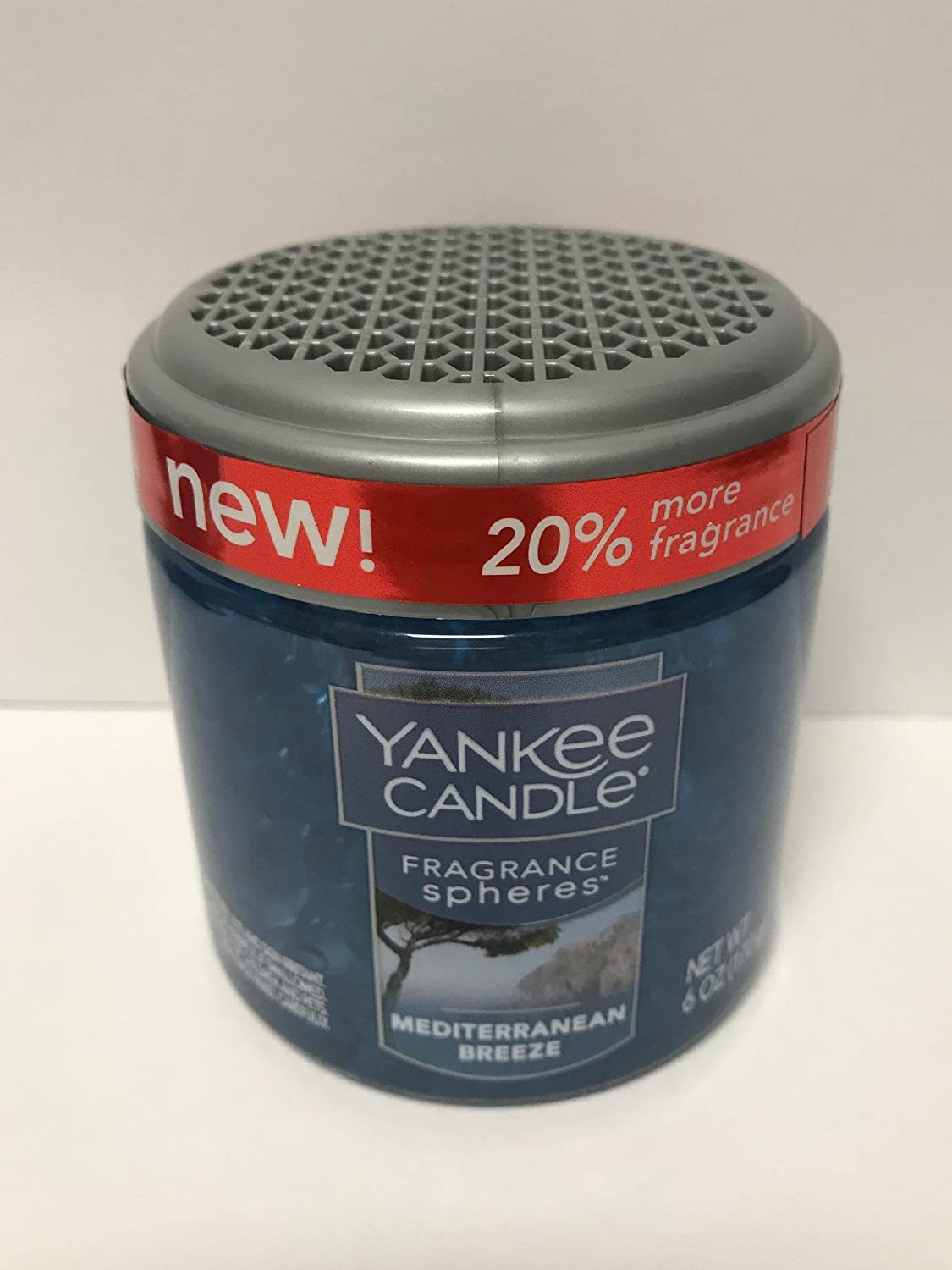 Yankee Candle Mediterranean Breeze Fragrance Spheres Odor Neutralizing Beads, Fresh Scent,Blue