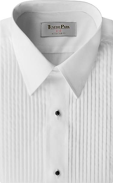 Men/'s Lay-Down Collar Tuxedo Shirt Size M-36-37