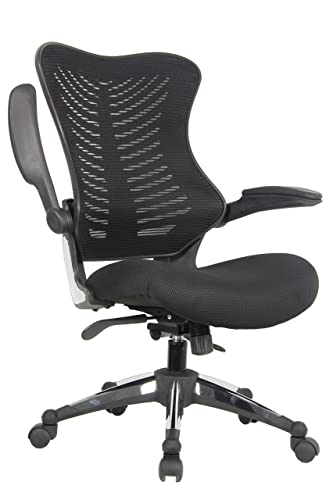 OFFICE FACTOR Executive Ergonomic Office Chair Back Mesh On Seat