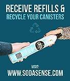 Soda Sense 60L CO2 Cylinder Cartridge Refill Set of 2 pcs