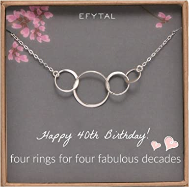 Sterling Silver Four Circle Necklace