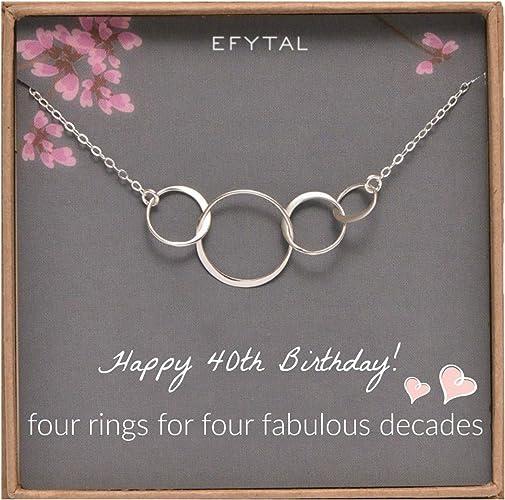 Amazon.com: EFYTAL 40º cumpleaños regalos para mujeres ...