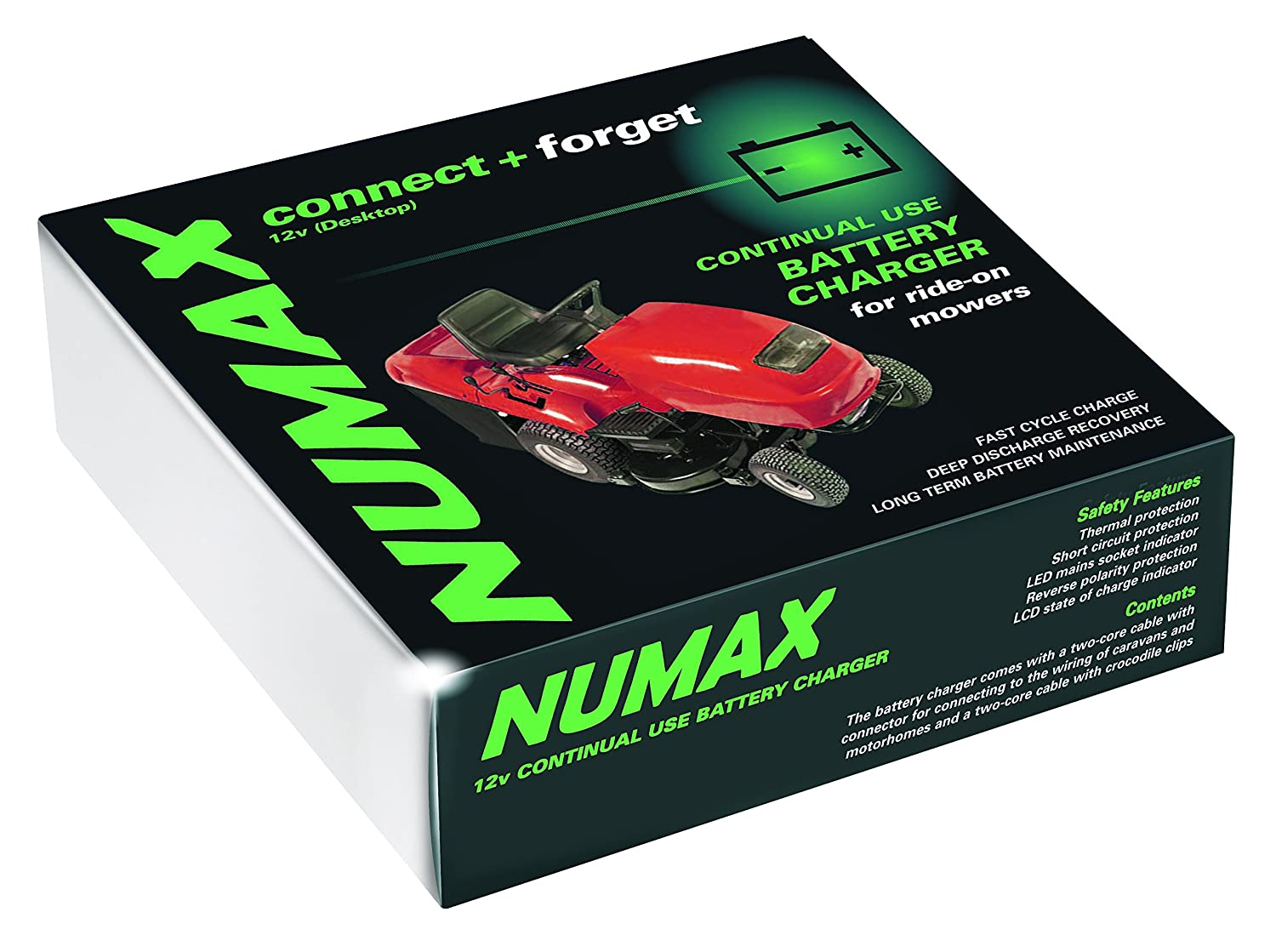 120400MOW - Numax 'Connect & Forget' 12V 4A Mower Battery Charger