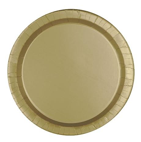 Gold Paper Cake Plates 8ct  sc 1 st  Amazon.com & Amazon.com: Gold Paper Cake Plates 8ct: Kitchen \u0026 Dining