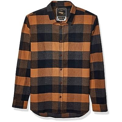 Quiksilver Men's Stretch Flannel Reg Woven Top: Clothing