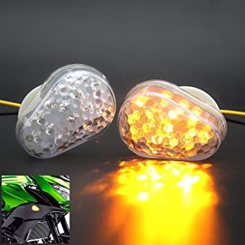 2x 20 LED Motorcycle Turn Signal Indicators Light Kawasaki Ninja ZX 6R 7R 9R 10R