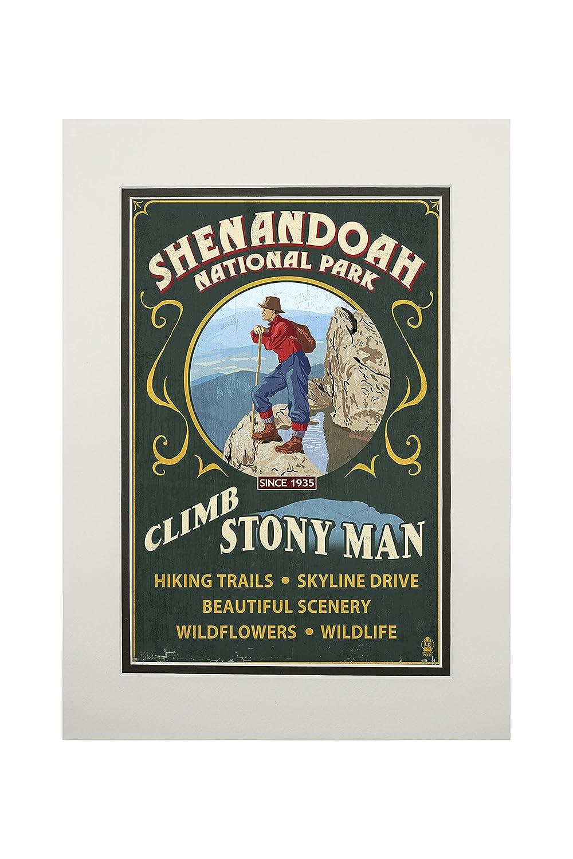 最高級のスーパー Shenandoah国立公園 Print、バージニア州 – Climb Stony Man Vintage Sign Vintage 9 B06XZX9P85 x 12 Art Print LANT-42285-9x12 B06XZX9P85 11 x 14 Matted Art Print 11 x 14 Matted Art Print, セレクトビオ:0482ecda --- hohpartnership-com.access.secure-ssl-servers.biz