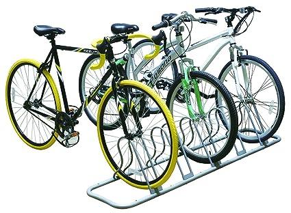 Amazon.com: Soporte organizador para 5 bicicletas, soporte ...