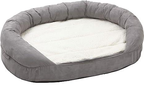Karlie 68416 Ortho Bed Oval Cama de Perro, Gris, 120 x 72 x ...