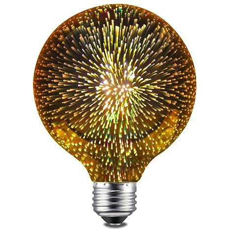 CanYa 3W E26 LED 3D Light Bulb 110V Creative Colorful ...