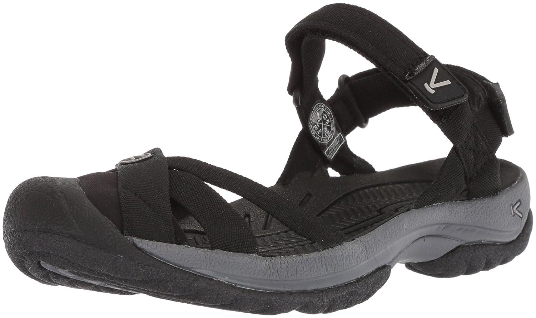 KEEN Women's Bali Strap Sandal B07227SSZV 5 B(M) US|Black/Steel Grey