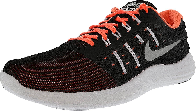 NIKE Lunarstelos Women's Running Shoes Black/Metallic Silver/Blue Moon/Aluminum (7.5)