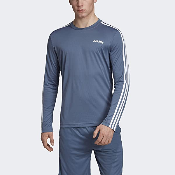 adidas Big Boys' Essential Clima Long Sleeve Tee