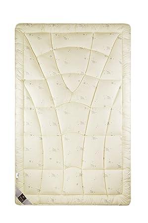 Sei Design Wolle Bettdecke Wool Comfort Mit Feinste äußerst Bauschige Echter Schurwolle Gefüllt Winterwarm 155x220