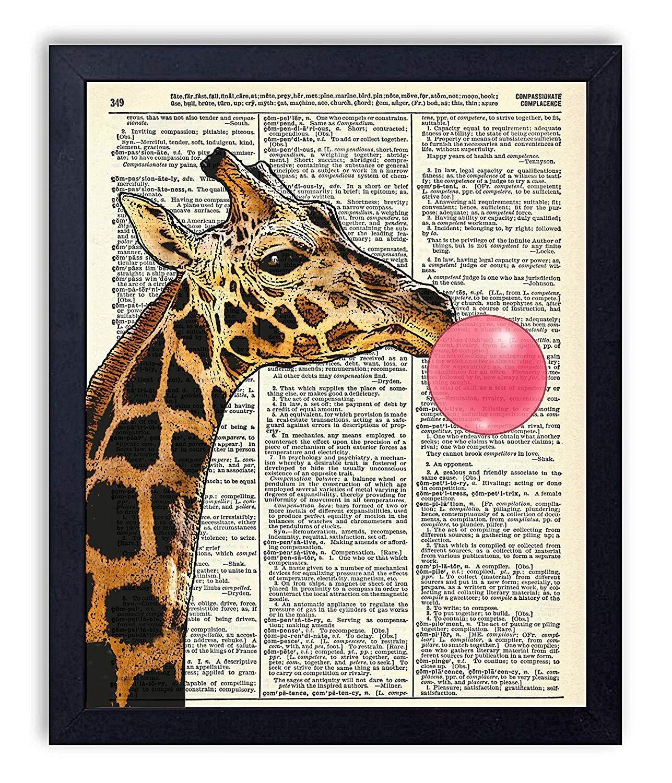 Amazon com: JUHAIMIU FUN Giraffe Blowing Pink Bubble Vintage