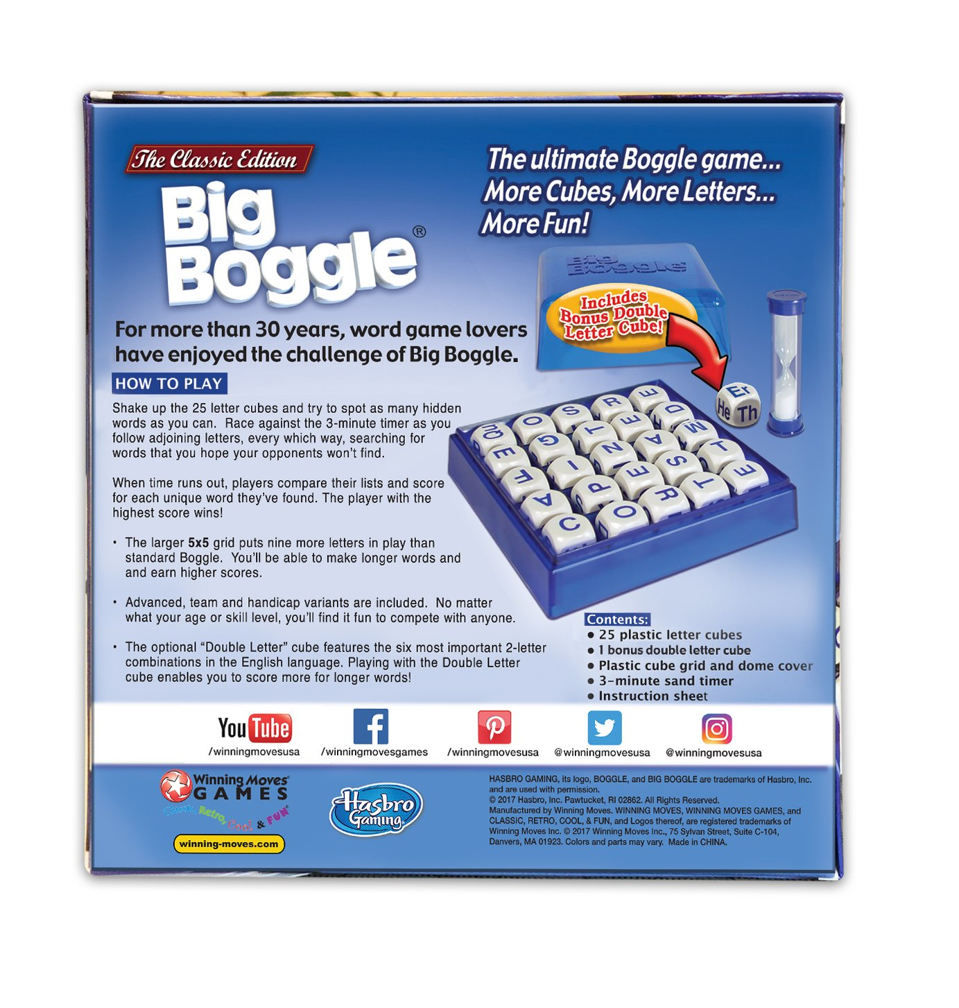 Amazon Winning Moves Games Big Boggle The Classic Edition