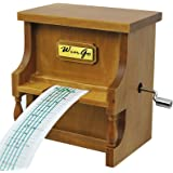 Music Box Musical Antique Vintage Wooden Piano,Double Movement, DIY Hand Crank 15 Note Make You Own Song with Tool Kit & 18 Note Wind-up(Tune:Silent Night)