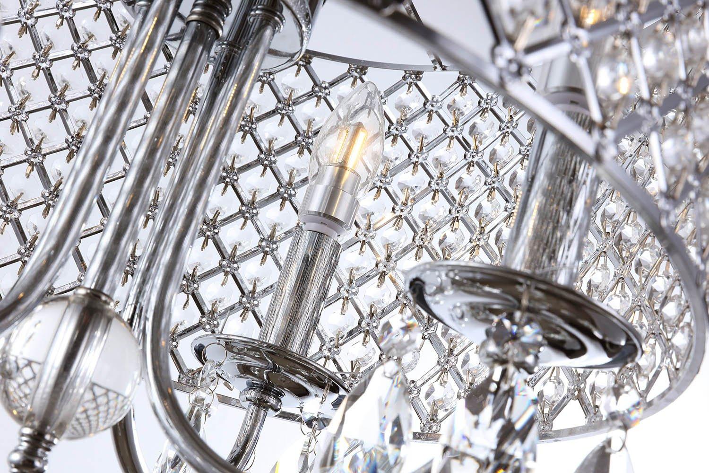Create for life 4 lights crystal chandelier pendant light ceiling create for life 4 lights crystal chandelier pendant light ceiling light fixture chromed finish amazon arubaitofo Choice Image
