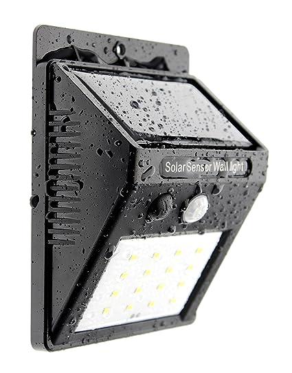 Trango 16 LED Lámpara solar lámpara de pared Lámpara de Seguridad con Detector de movimiento & Sensor de claridad proporcionan Auto Encendido/Apagado ...