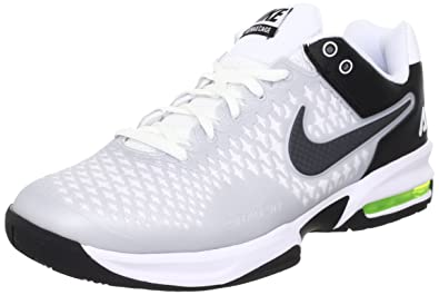 outlet store 974a3 e9033 NIKE Men s Air Max Cage 554875 100 White Anthracite Black Tennis Sneaker