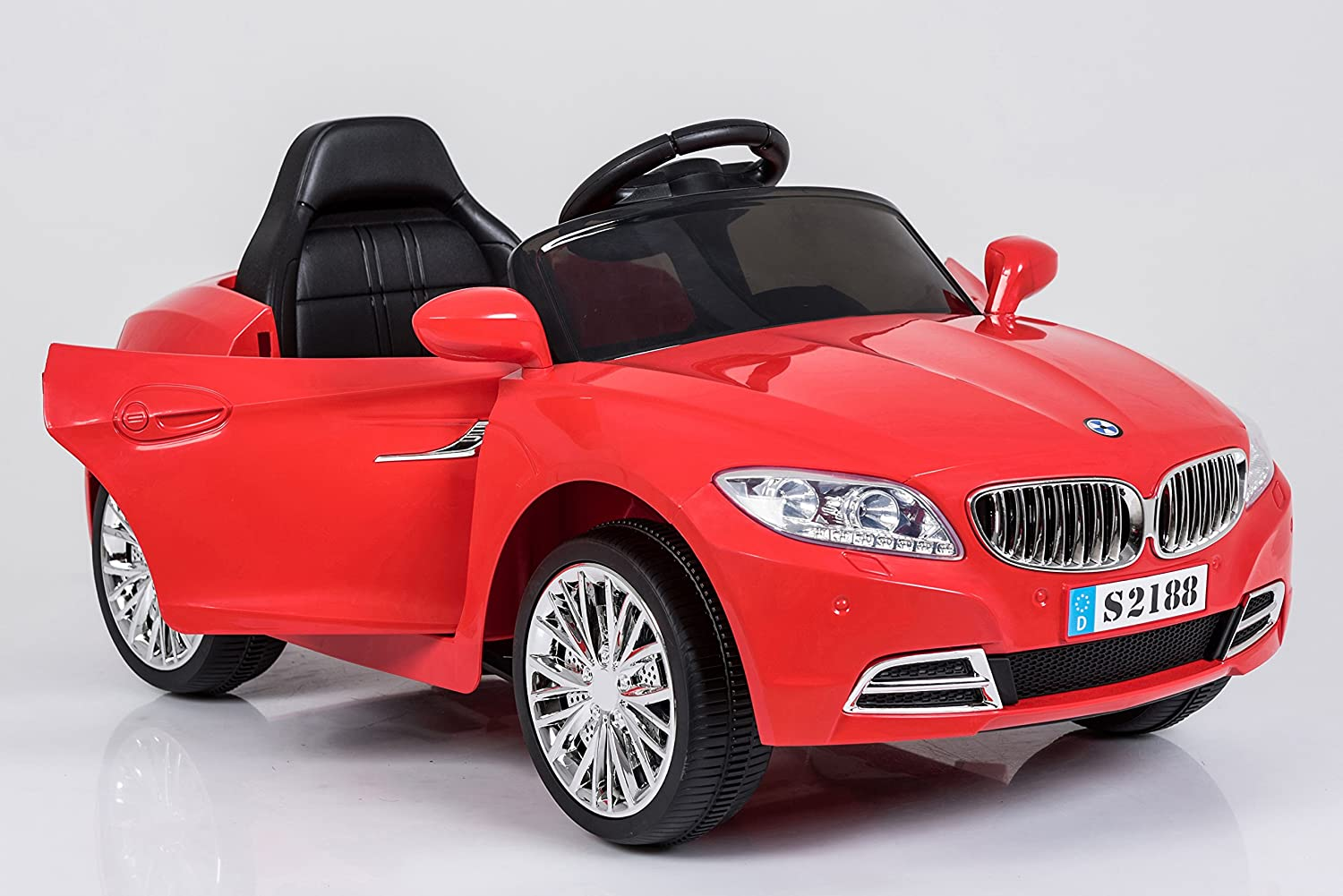 Ricco Lights And Music Red Bmw Style Kids Ride On Remote