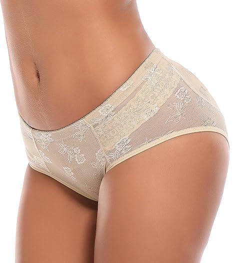4648c366230b SLIMBELLE Women's High Waist Seamless Underwear Cotton Underpants Briefs  Super Soft Panties with Tummy Control