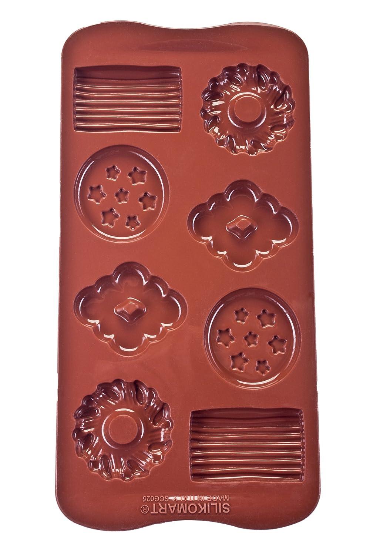 Marron 2 x 10,5 x 21,5 cm Forme Cl/és silikomart 22.133.77.0065 Moule en Silicone