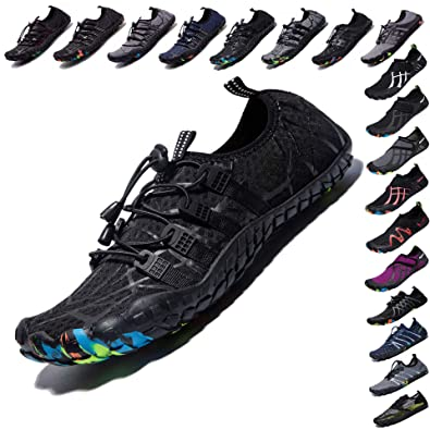 458bd6d7800 LINGTOM Mens Womens Aqua Water Shoes Beach Pool Running Hiking Shoes Quick  Dry Barefoot Sports Exercise