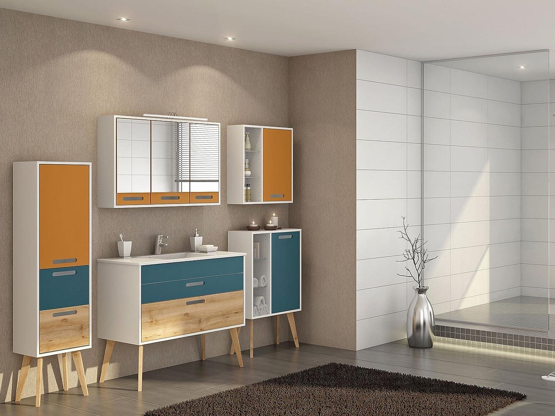 Badezimmer Komplett Set Bad Möbel Badezimmermöbel Schrank \