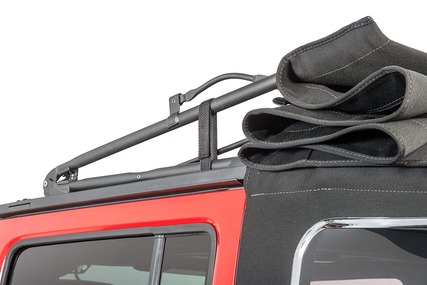 Home MFC 4 pcs Durable Tie Down roof top Straps 20 x 1.5 Hook /& Steel Loop Fasteners//Rear Window//Secure Soft Top Straps Sunrider//Adjustable Cinch Straps for Jeep Wrangler Outdoors