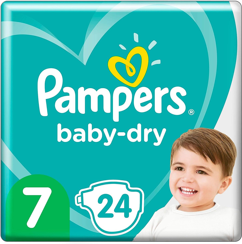15kg+ 24 Windeln bis zu 12/Stunden Rundumschutz Pampers Baby-Dry Gr/ö/ße 7