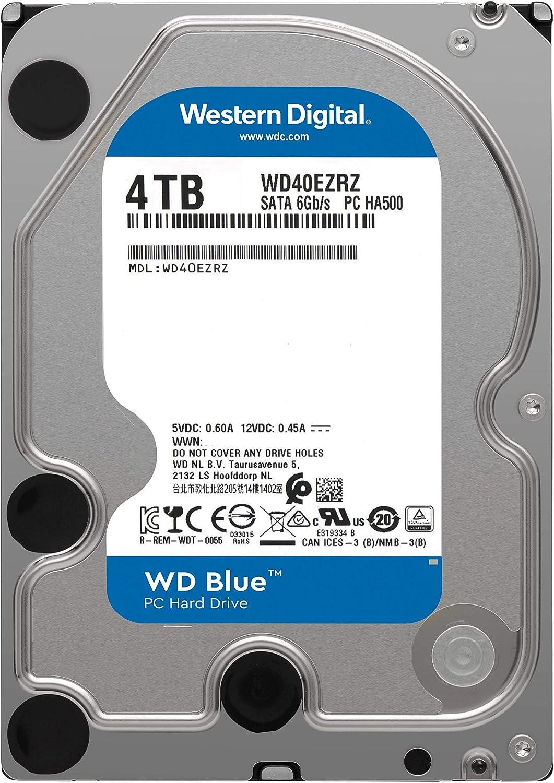 """Western Digital WD40EZRZ WD Blue SATA III 3.5/"""" 4TB Hard Drive"""