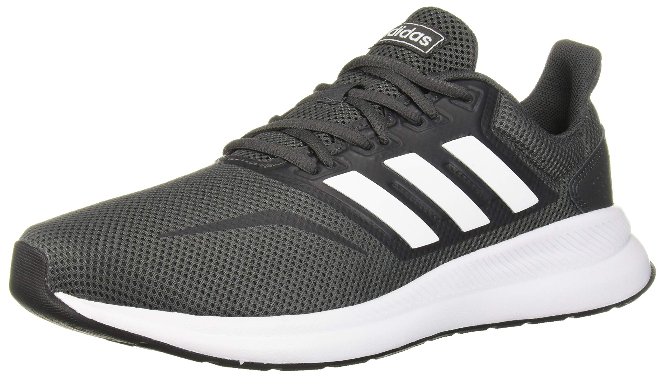 adidas Men's RunFalcon Wide Running Shoe, Grey/White/Black, 9.5 W US by adidas