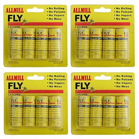 ALLMILL Fly Paper Ribbon Catcher TrapSticky Ribbons Bait