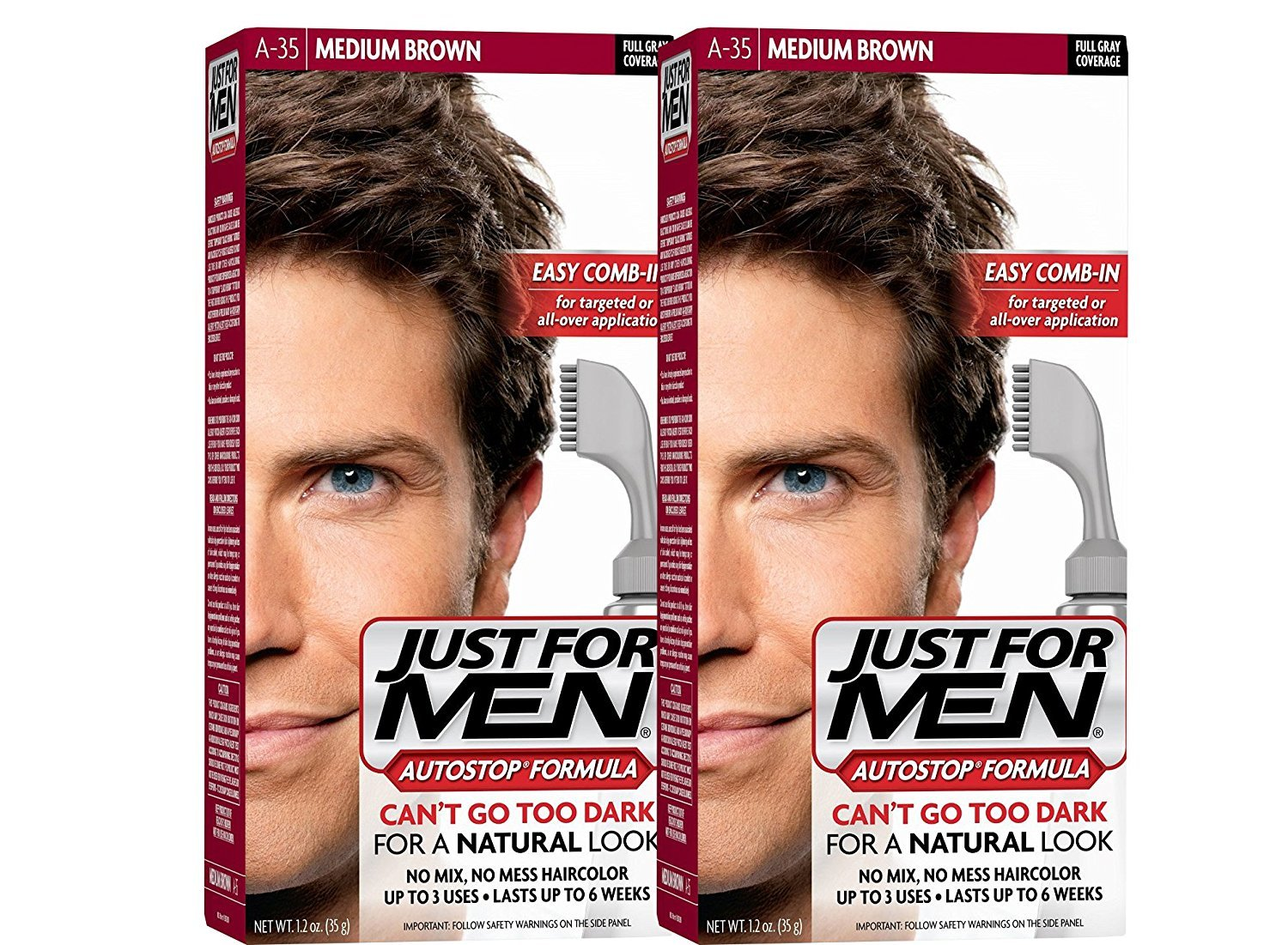 Just For Men AutoStop Men's Hair Color (2, Medium Brown) by Just for Men