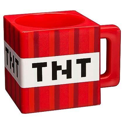 amazon com jinx minecraft tnt plastic mug 9 8 ounces coffee