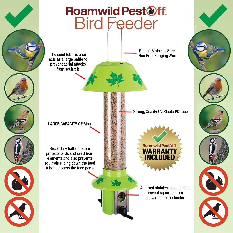 Hanging Wild Bird Seed Feeder Station Avec Plastique Perche /& Petit Alimentation Ports